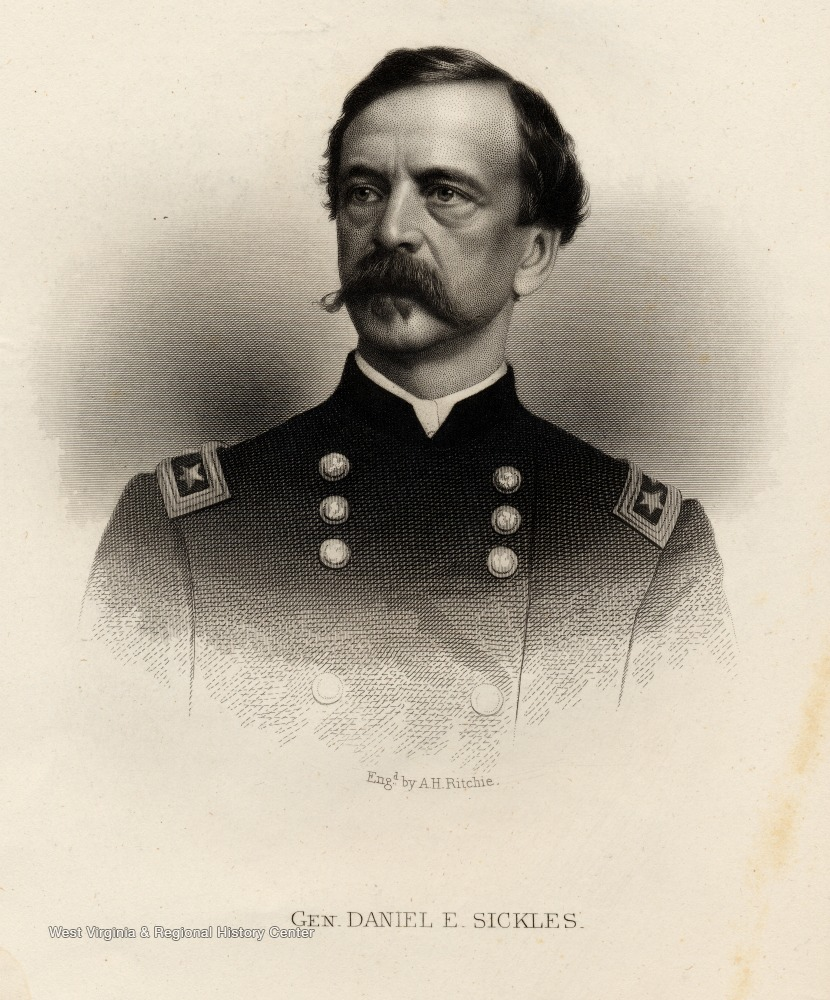 Engraving of General Daniel E. Sickles.