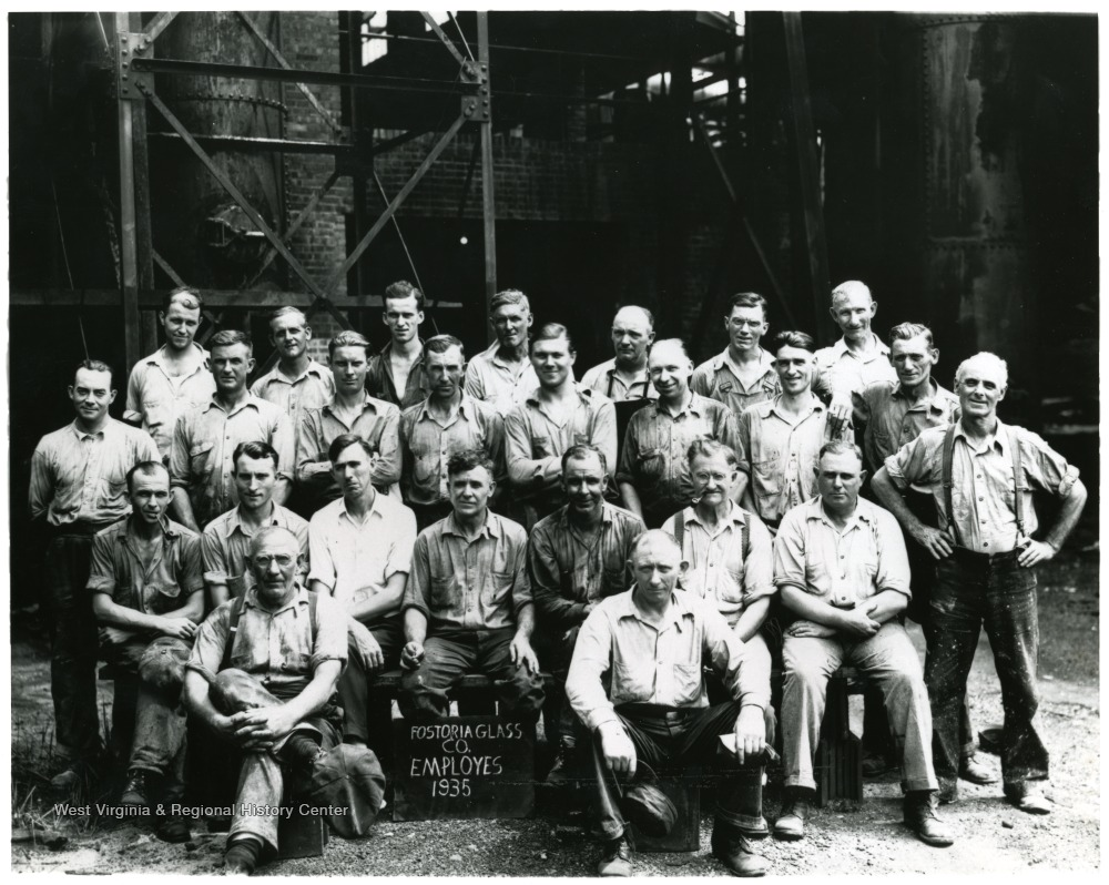 Group portrait of Fostoria Glass Company Employees, Moundsville, W. Va.