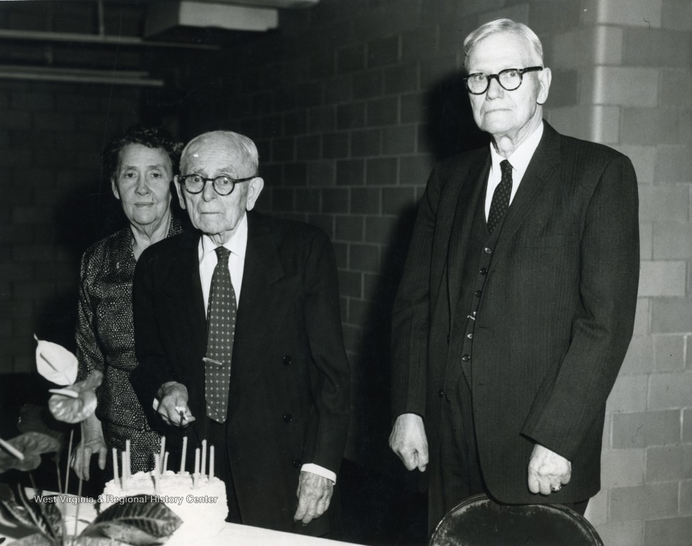 Dr. O.P. Chitwood, Professor Emeritus of History (right); Dr. Albert M. Reese and  Mrs. Reese (left).
