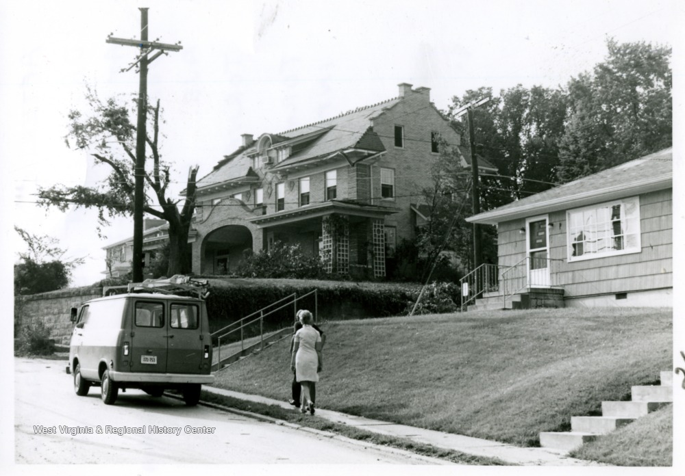 Dr. Robert Hess' house after the clean up at the intersection of Worthington & Philadelphia Avenues; the tornado went through the intersection.