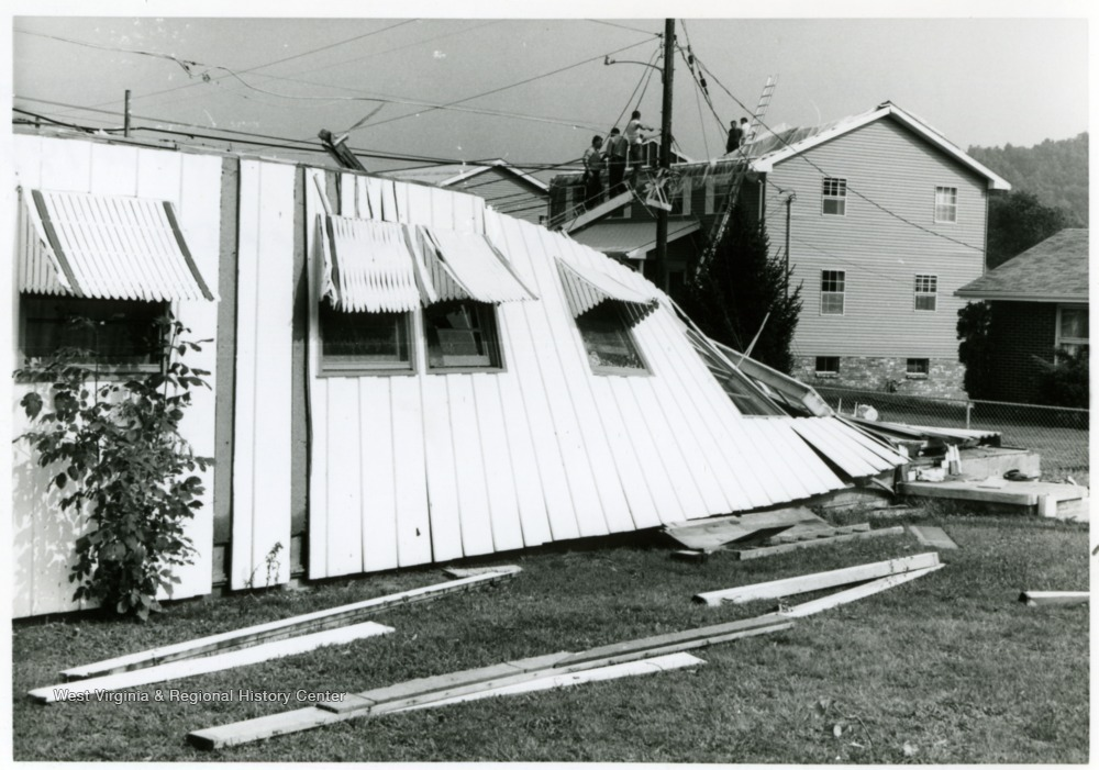 A house at the intersection of Smith and Cherry Streets, destroyed, Bridgeport, W. Va.