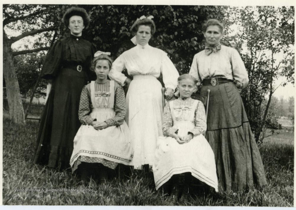 Standing left to right: Olga Aegerter, Julia Burky, Mary Burky. Seated: Mary Metzener and Verena Metzener.