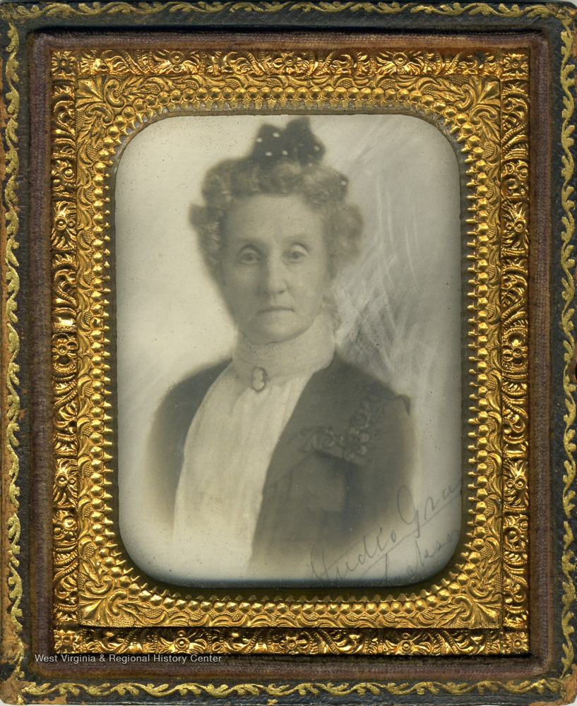 "Cased portrait of Mrs. Josephine Neal Robb, ""Cousin Jodie"", daughter of Daniel R. Neal."