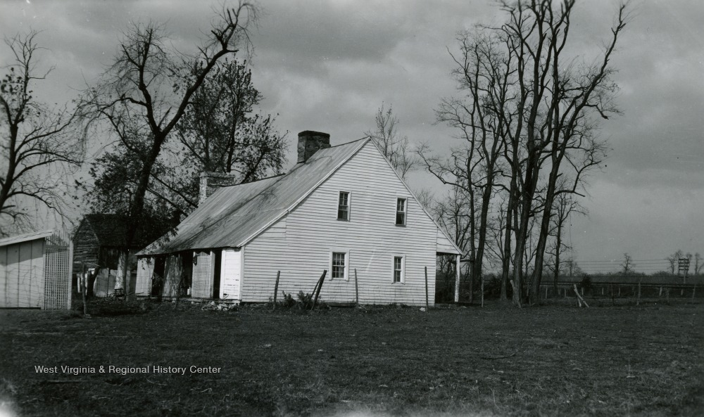 Handhewn clapboard house was built ca. 1751. Peter Burr was first cousin to United States Vice President Aaron Burr.