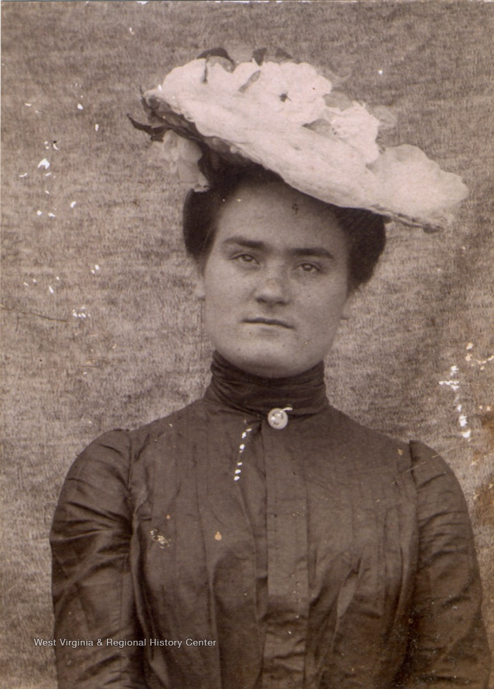 Portrait of Lydia Margaret Hanna Barr Ballangee Hill of Braxton County, West Virginia, mother of Pauline Barr Sirk.