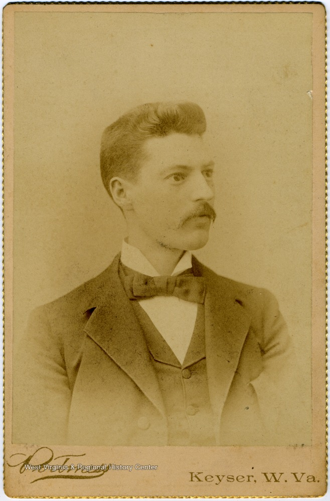 Portrait of James Barrick from a photograph album of images from the late nineteenth century featuring residents from Keyser, W. Va.