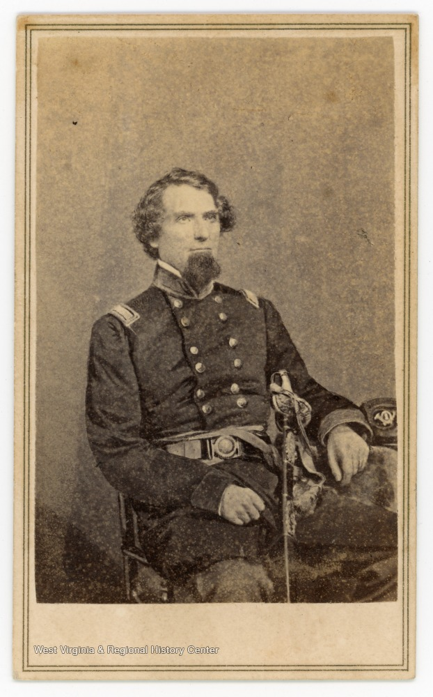 "Text on the back reads, ""General Benjamin Franklin Kelley, here with 1st West Virginia hat. Captured by Confederate raiders on Feb. 21, 1865."" Kelley served in the Union Army during the American Civil War."