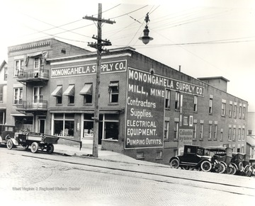 Exterior of Monongahela Supply Company, University Avenue, Morgantown.