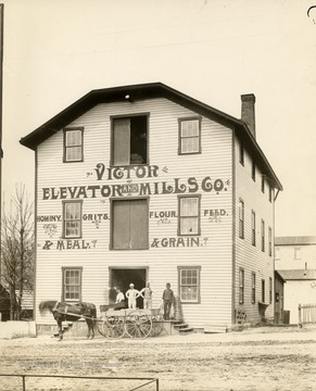 Exterior of Victor Elevator and Mills Company, Morgantown.