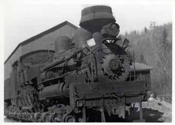 Train at Cass Yard, Cass, WV; Ivan Clarkson Collection.