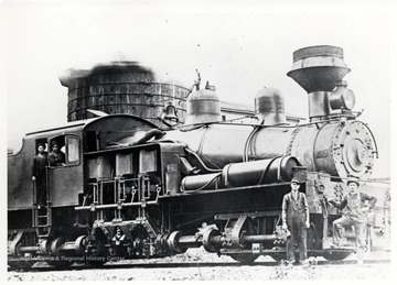 Shay Locomotive No. 8 at Water Tank in Spruce, W.V.