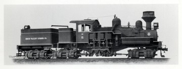 Birch Valley Lumber Co. Train. P.E. Percy, Lima Locomotive Works; CO 359 = Shop #3189 (12 22)