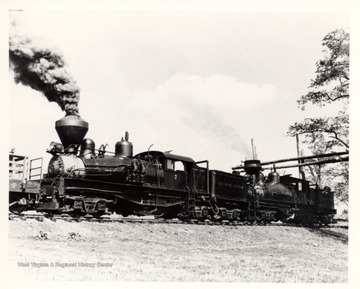 Shay  No. 7 and 4 at Whittaker Station. Cass Scenic R.R.; Cass, W.V.