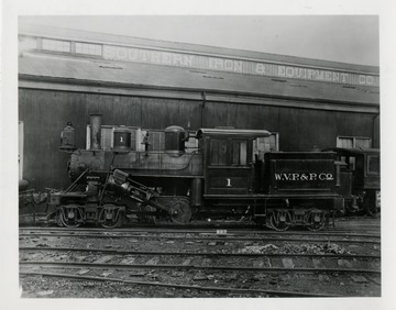 West Virginia Pulp and Paper Company train engine.  S.I.C.E [?]  1912 Atlanta (Perrell).  Credit copy, Mallory Hope Ferrell.