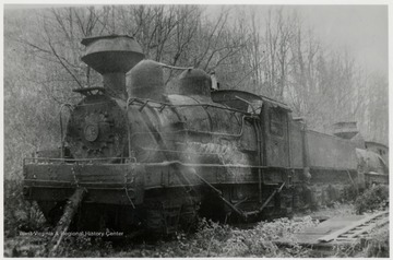 Derelict train engine.