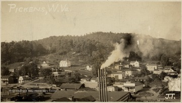 Pickens, W.Va. about 1922 during the operation of the Ranwood Lumber Company.  J.T.