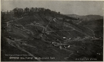 Oil derricks on Mudlick Run in Shinnston, W.Va.