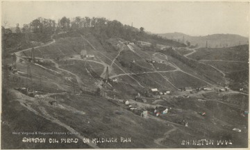 Oil derricks on Mudlick Run in Shinnston, W. Va.