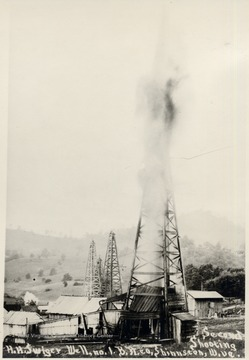 Oil gushes from well at Shinnston.