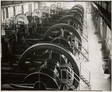 Row of oil engines.