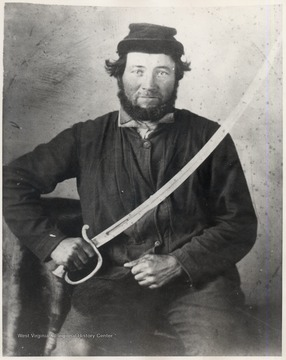 Portrait of an unidentified Civil War veteran.