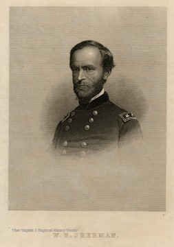 Engraving of W.T. Sherman.