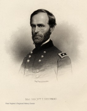 Engraving of Major General William T. Sherman.