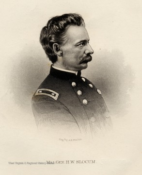 Engraving of Major General H.W. Slocum.