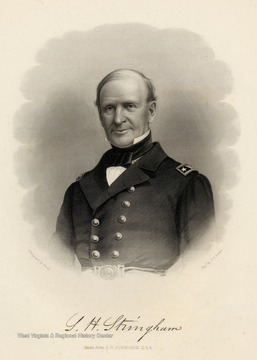 Engraving of Read Admiral S.H. Stringham, U.S.N. from photograph by Brady