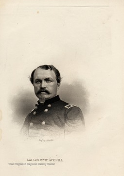 Engraving of Major General William W. Averill by A. H. Ritchie.