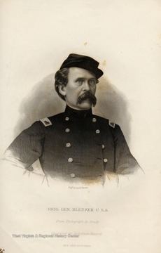 Engraving of Brig. General Louis Blenker from Photograph by Brady.