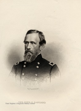Engraving of General John G. Barnard by A. H. Ritchie.