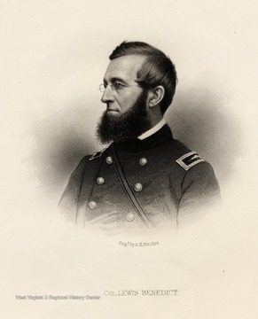 Engraving of Colonel Lewis Benedict by A.H. Ritchie.