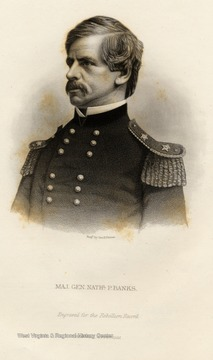 Engraving of Major General Nathaniel P. Banks.  Engraved for the Rebellion Record.  New York G.P. Putnam.
