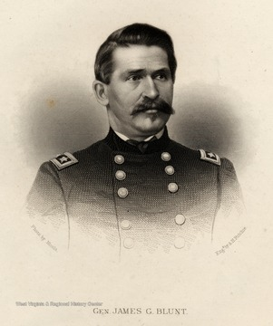 Engraving of General James G. Blunt.