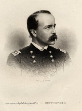 Engraving of Major General Daniel Butterfield.