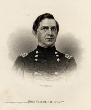 Engraving of Major General E.R.S Canby.