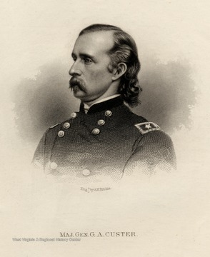 Engraving of Major General G.A. Custer.
