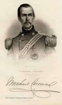 Engraving of Colonel Michael Corcoran of the 69th Reg. N.Y.S.M.  New York, G.P. Putnam.