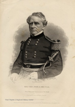 Engraving of Major General John A. Dix by George E. Perine.
