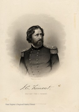Engraving of Major General John C. Fremont by J.C. Buttre for the Rebellion Record.