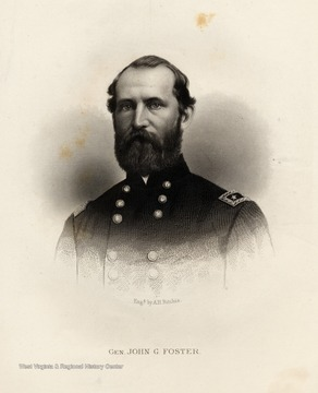 Engraving of General John G. Foster by A.H. Ritchie.