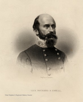 Engraving of General Richard S. Ewell by A.H. Ritchie.