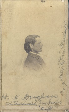 Portrait of H.K. Douglass, a member of Stonewall Jackson's staff.