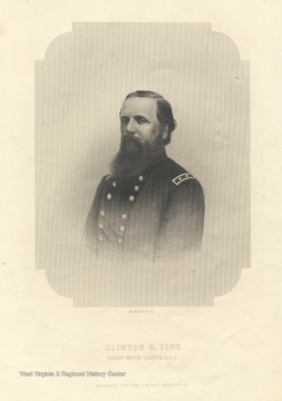 An engraving for the Ladies Repository of Brevet-Major General Clinton B. Fisk.