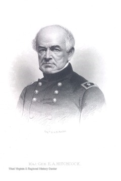 Engraved portrait of Major General E. A. Hitchcock.