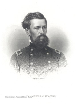Engraved portrait of General Oliver O. Howard.