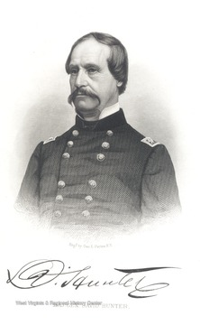 Engraved portrait of Major General David Hunter.