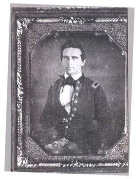 Earliest portrait of Thomas J. Jackson. The photograph was made in Mexico City, during the Mexican War.