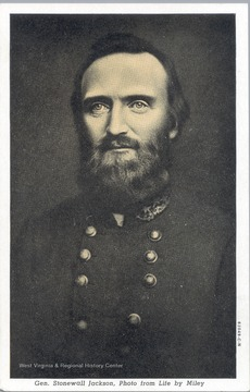 A postcard of General Stonewall Jackson. Photo from Life by Miley.